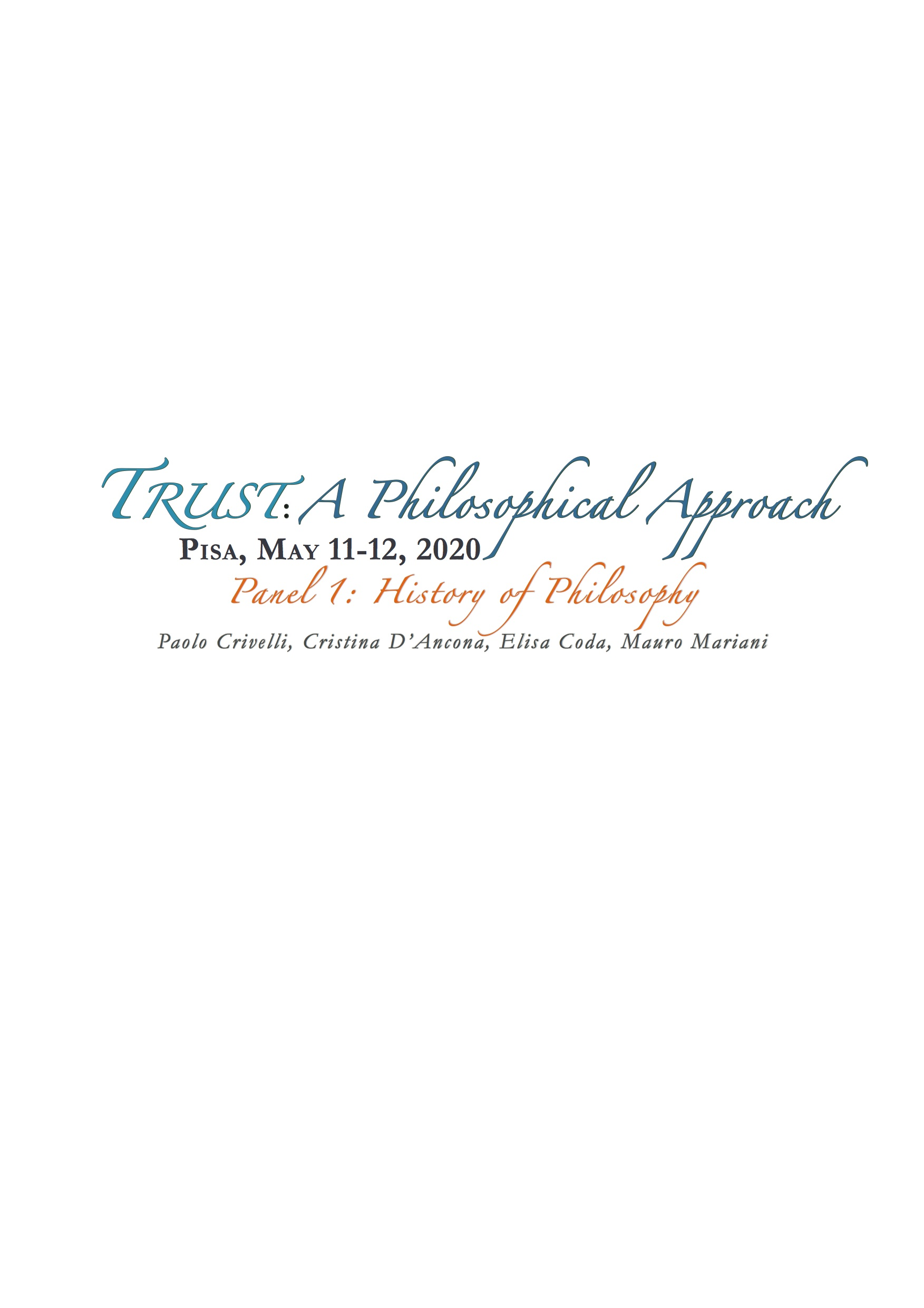 TRUST: A PHILOSOPHICAL APPROACH - PANEL 1