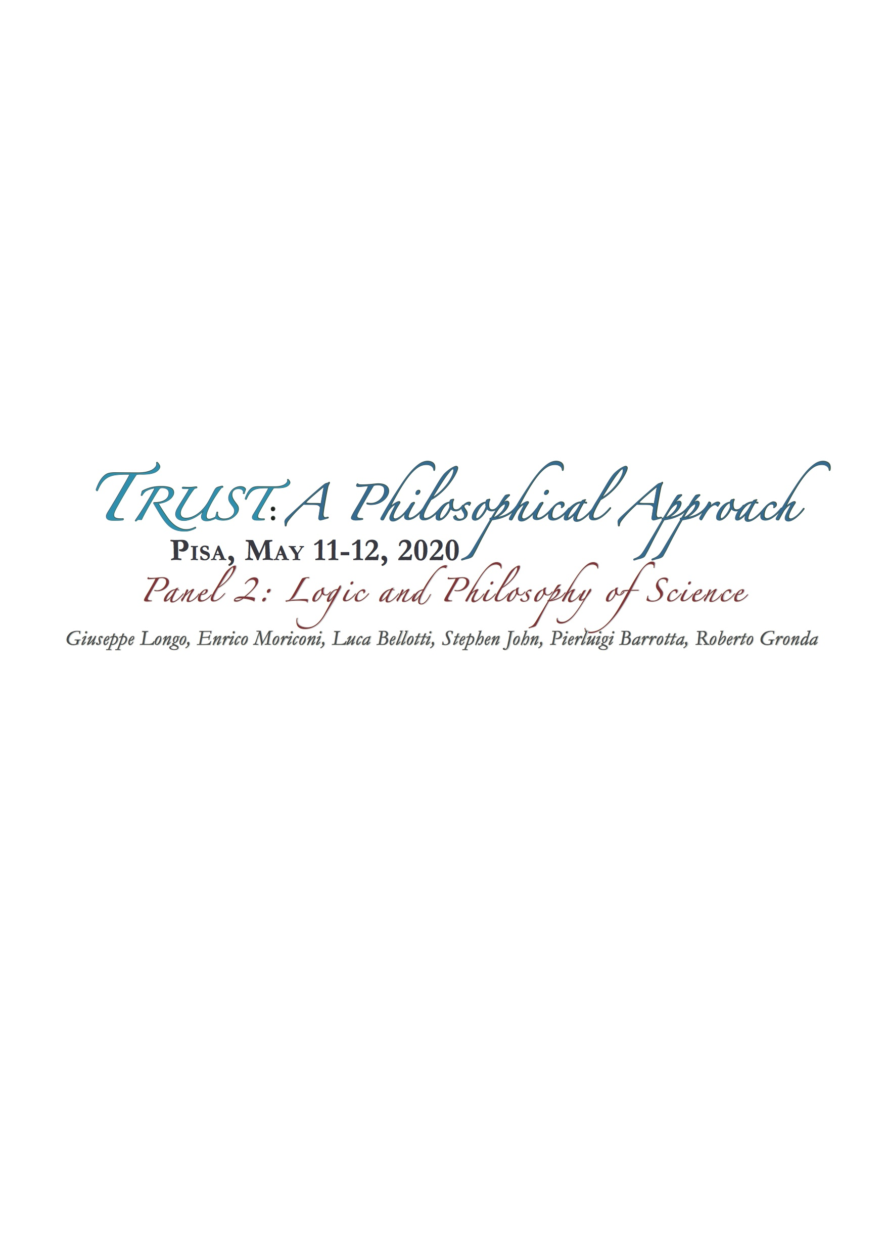 TRUST: A PHILOSOPHICAL APPROACH – PANEL 2
